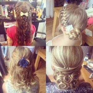 Wedding & Bridesmaid upstyles, Birmingham hair salon