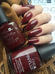 cnd shellac nail treatments at birmingham hair & beauty salon