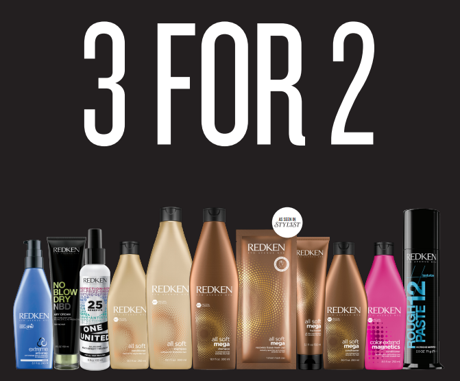 3 for 2 on Redken Products