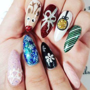 Christmas Nails CND Shellac