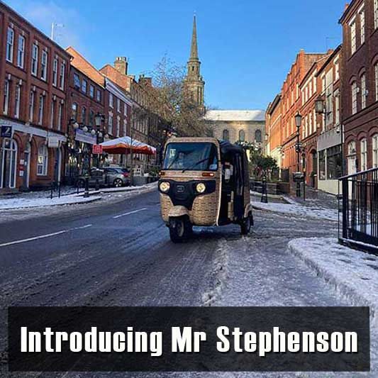 Introducing Mr 'Tuk Tuk' Stephenson